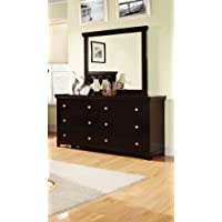 Furniture of America Pasha 2-Piece Dresser and Mirror Set, Espresso Finish