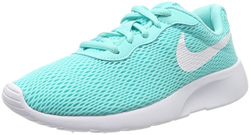 NIKE Girl's Tanjun Shoe Aurora Green/White Size 4 M US by NIKE
