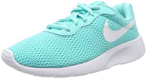 5727662cb84e Galleon - Nike Girl s Tanjun Shoe Aurora Green White Size 4 M US
