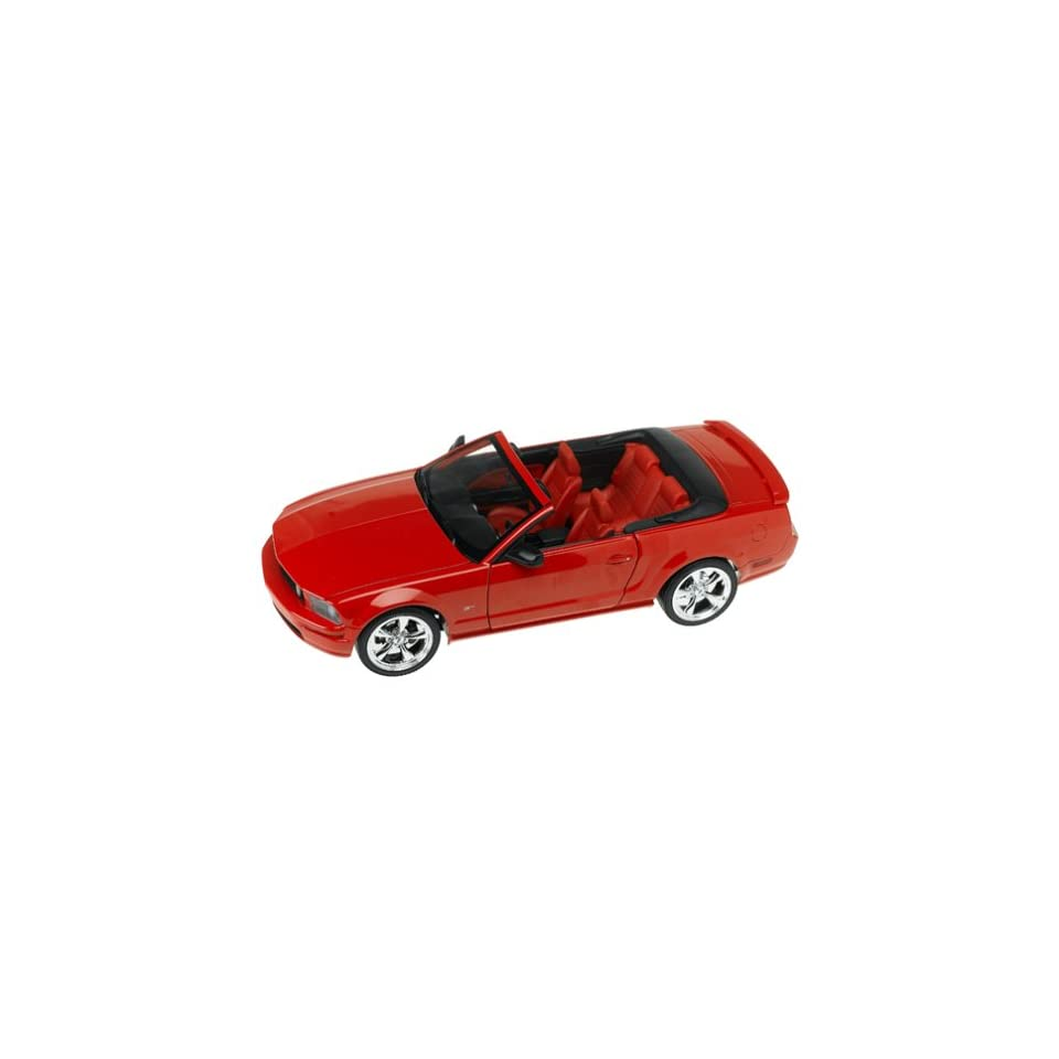 2005 Ford Mustang GT Convertible diecast model car 118 scale diecast by Hot Wheels   Red