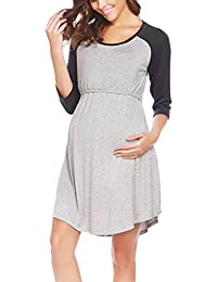 Women's Maternity Dress Nursing Nightgown for...