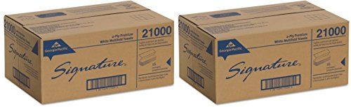 Georgia Pacific Professional 21000 Paper Towel, 9 1/5 x 9 2/5, White, Pack of 125 (2 Case of 16 Packs)