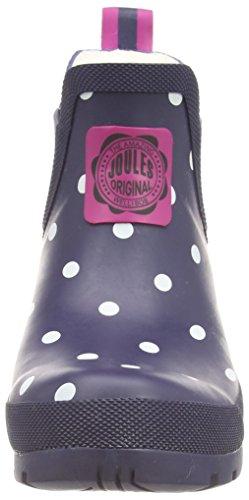 Joules Wellibob - botines bajos con forro cálido de goma mujer Azul (Navy Spot)