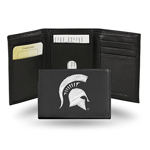 Rico Industries NCAA Michigan State Spartans Embroidered Leather Trifold Wallet