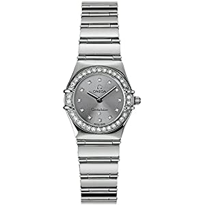 41R4D6o1a7L. SS300  - Omega Constellation White Gold 22.5mm Diamond Women's Watch 1165.36.00