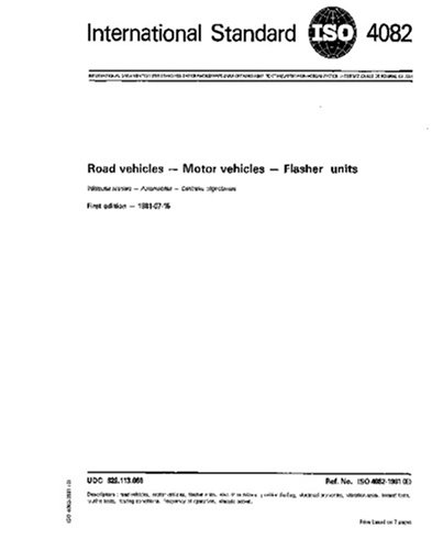 ISO 4082:1981, Road vehicles - Motor vehicles - Flasher units