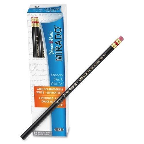 Wholesale CASE of 25 - Paper Mate Mirado Black Warrior Pencils w/ Eraser-Black Warrior Pencil, With Eraser,No 2 Soft Lead, ()