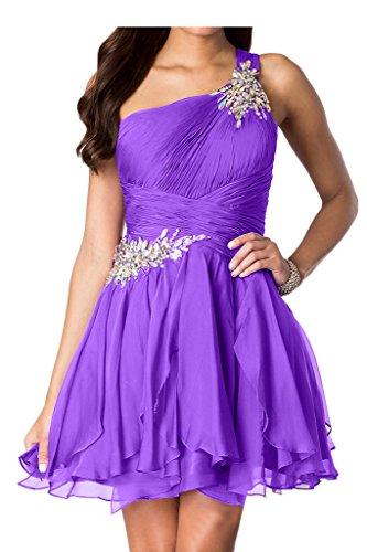 Chiffon Violett Rueckenfrei Partykleid Abendkleid Falte Traeger Missdressy Damen Ein 5nqR6x8Rf