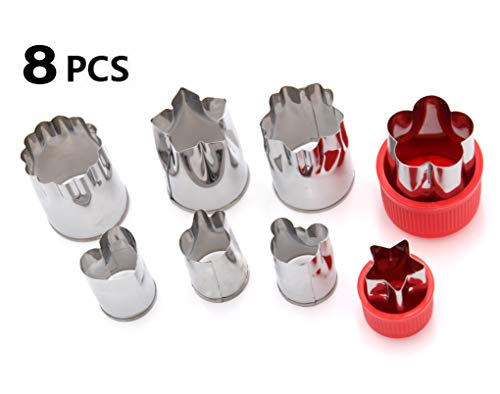 Set of 8 - Stainless Steel Vegetable Cutters