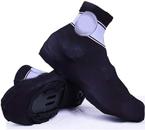 サイクリングシューズカバー アウトドア靴カバースポーツ自転車防風性と防塵乗馬靴カバー シューズカバー (Color : Black, Size : L)