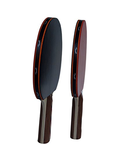 Table Tennis & Ping Pong Paddles Set with Carry Case - Professional Quality Racket with Flared Wood Handle for Novice to Semi-Pro by Flying Fox Paddles by Flying Fox (Image #7)