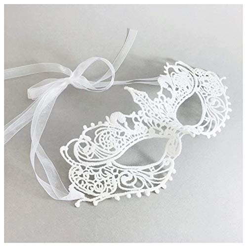 Samantha Peach Ivory Goddess Lace Masquerade Mask ()