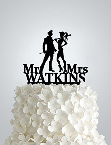 Acrylic Wedding cake Topper - ,Joker and Harley Quinn