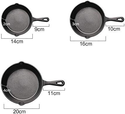 Poêle antiadhésive,Poêles à frire,outil de cuisson de ménage de poêle à frire en fonte BBQ
