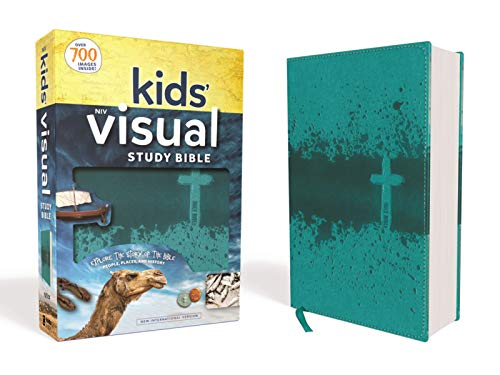 NIV, Kids' Visual Study Bible, Leathersoft, Teal, Full Color Interior: Explore the Story of the Bible---People, Places, and History ()
