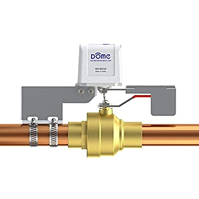 """Dome Home Automation DMWV1 Water Shut-Off Valve, For Pipes Up To 1 1/2"""", White"""