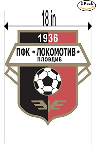 fan products of Lokomotiv Plovdiv Bulgaria Soccer Football Club FC 2 Stickers Car Bumper Window Sticker Decal Huge 18 inches