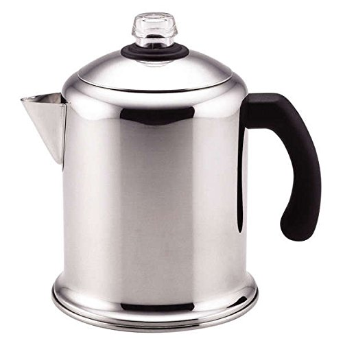 Classic Stainless Steel Yosemite 8-cup Coffee Percolator Made of Stainless Steel and Metal by Generic