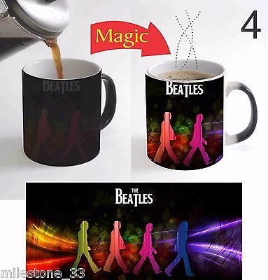 The Beatles Rock Band Music Lovers Color Change Magic Coffee Mug