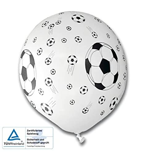 tib 16768 - Globos de fútbol (5 unidades), diseño de balón de ...