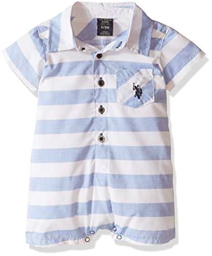 U.S. Polo Assn. Baby Boys' Sleep and Play In The One Piece Striped Romper