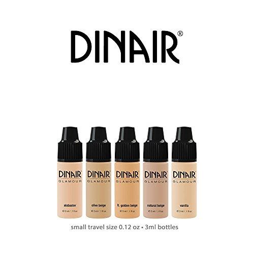 Mini Sample Size Bottles Dinair Airbrush Makeup Foundation | Fair Shades | GLAMOUR: Natural, Light – Medium Coverage