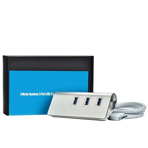 Phenas Unibody Aluminum 3-Port USB 3.0 and Gigabit Ethernet