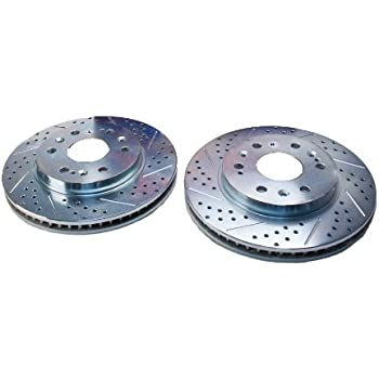 BAER 55175-020 Sport Rotors Slotted Drilled Zinc Plated Front Brake Rotor Set Pair
