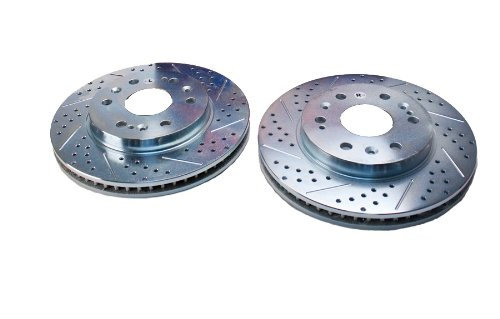 BAER 55097-020 Sport Rotors Slotted Drilled Zinc Plated Front Brake Rotor Set - Pair