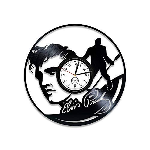 Kovides Elvis Presley Vinyl Wall Clock Elvis Presley Clock Elvis Presley Vinyl Clock Elvis Presley Vinyl Record Wall Clock Gift for Man Elvis Presley Gift For Him 12 inch Clock Wall Clock Vintage