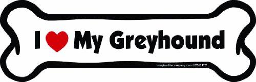 Imagine This Bone Car Magnet, I Love My Greyhound, 2-Inch by 7-Inch
