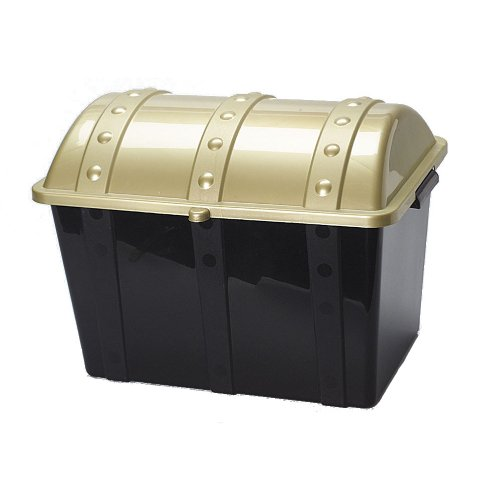 U.S. Toy - Plastic Pirate Treasure Chest Box for Party Favors and Small Toys (Treasure Plastic)