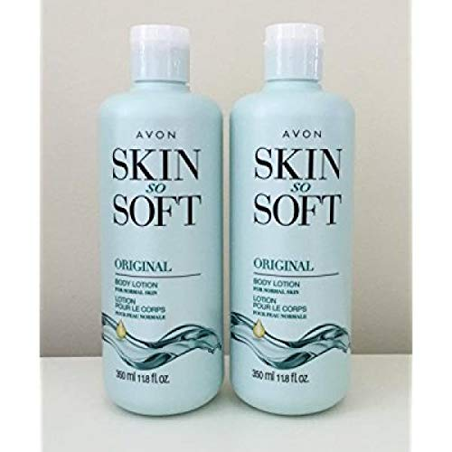 Lot of 2 Avon Skin So Soft Original + Jojoba Body Lotion 11.8 oz. ea.
