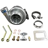 """Universal GT35 T4 Turbo Charger Anti-Surge 500+ HP .68 A/R + 3"""" Stainless V-Band"""