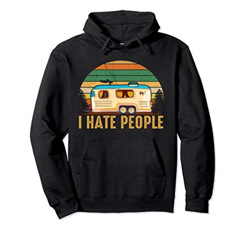 Love camping i hate people shirt moutain hiking camping - I Hate Hoodie People