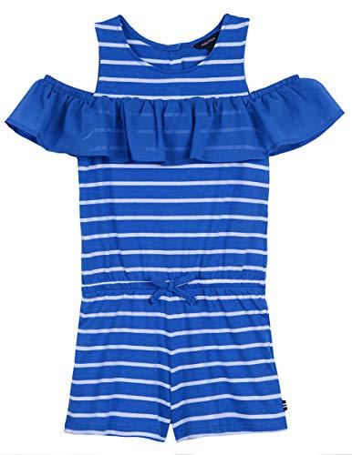 Nautica Big Girl's Fashion Romper Shorts, jersey medium blue, L12/14