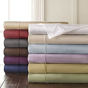 HC COLLECTION 1500 Thread Count Egyptian Quality 2pc Set of Pillow Cases, Silky Soft & Wrinkle Free Sizes-King Size, Gray