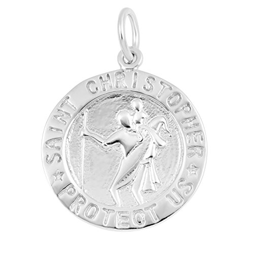 Silver on the Rocks Religious Charm Jewelry, Sterling Silver Religion Bracelet Necklace Charms ()