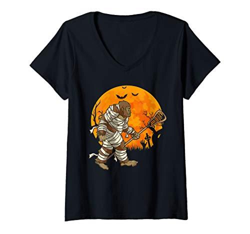 Womens Lacrosse Player Sasquatch Halloween | Funny