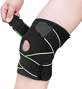 ENTER Knee Brace Compression Sleeve Support - Adjustable Strapping Sleeves  Women Men Braces with Dual Side Stabilizers   Patella Gel Pads for  Arthritis 71d7a74e44ebb