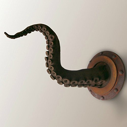 - Rusty Tentacle Sculpture with Porthole