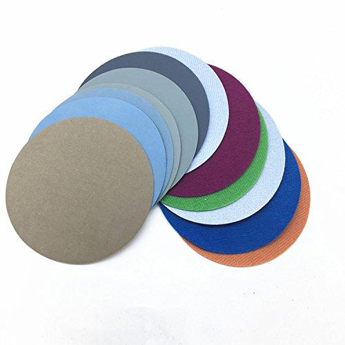 30pcs 50mm 2Inch Water Grinding Abrasive Paper Grit 1500/2000/3000/5000/7000/10000 Mix Grit Set Sanding Discs Hook Loop Sandpaper Round Sandpaper Disk Sand Sheet