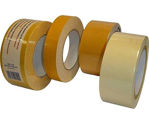 PRO Système de bm4108Ruban de fixation double face adhésifs Tapis pour salon Construction, film bande bande passante, 50mm, 25m Longueur (Lot de 18) 50mm 25m Longueur (Lot de 18) Pro-System Verpackungstechnik GmbH