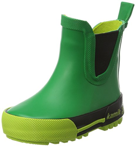 Kamik Green (Kamik Boys' Rainplaylo Rain Boot, Green, 8 M US Toddler)