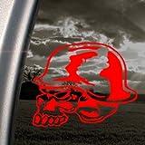 Metal Mulisha Skull Helmet Red Decal Window Red Sticker