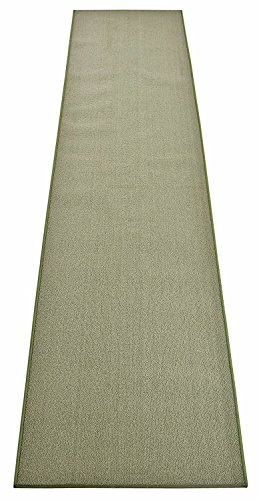 Custom Size Runner Rug Solid Color Roll Runner 36 Inch Wide x Your Length Choice Antibacterial Slip Skid Resistant Rubber Back 26 Inch Also Available Premium Quality (Sage Green, 10 ft x 36 in)