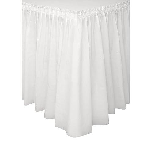 White Plastic Table Skirt, 29