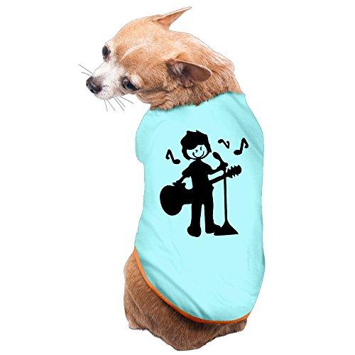 Vgd Musician Boy Is Singing SkyBlue Cute Dog Coat
