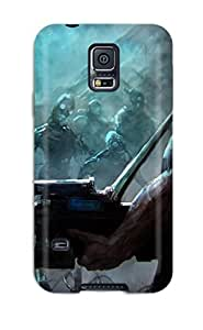 Excellent Design One Man Against Zombies Phone Case For Galaxy S5 Premium Tpu Case