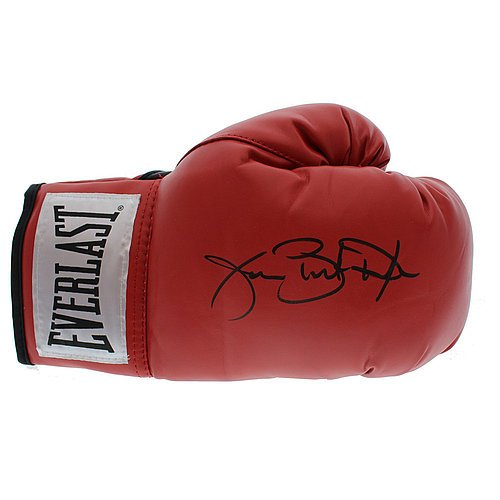 Buster Douglas Autographed Signed Red Everlast Boxing Glove - Certified Authentic - Autographed Signed Boxing (Boxing Memorabilia)
